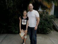 Чемпионка в/к до 48 кг - Ефимова Екатерина со своим тренером - Мельниковым П.А.